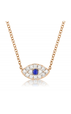 Miss Mimi Evil Eye Silver Necklace 04-023188-03 product image