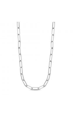 """Miss Mimi Silver Paper Clip Necklace 18"""" 04-403614-01 product image"""