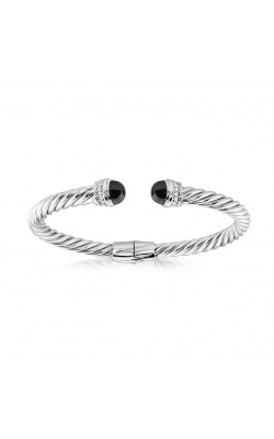 Miss Mimi Silver Twist Bangle 07-083491-01/BK product image