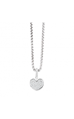 Miss Mimi Pave Heart Silver Necklace 09-021344-01 product image