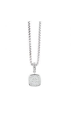 Miss Mimi Pave Square Silver Necklace 09-021345-01 product image