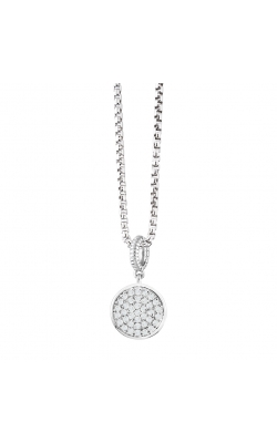 Miss Mimi Pave Circle Silver Necklace 09-021346-01 product image