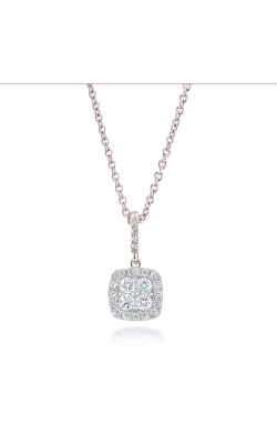 Miss Mimi Square Silver Necklace 09-022060-01 product image