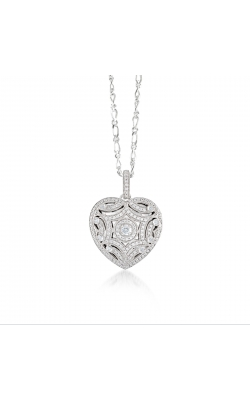 Miss Mimi Silver Heart Locket Necklace 09-072290 product image
