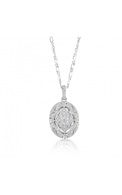 Miss Mimi Silver Oval Locket Necklace 09-072438 product image