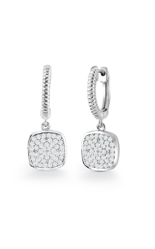 Miss Mimi Square Drop Silver Earrings 13-021345 product image
