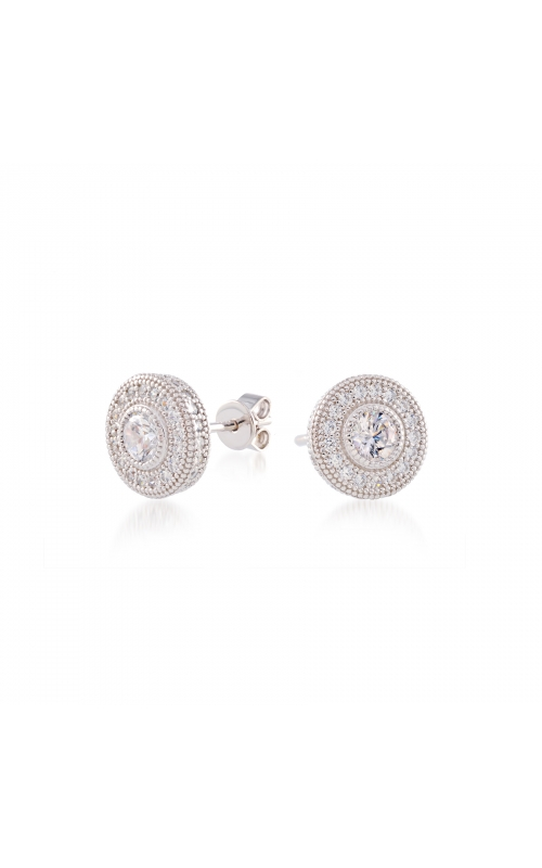Miss Mimi Heritage Round Silver Earrings 13-021789 product image