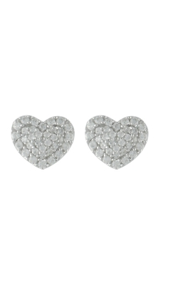 Miss Mimi Heart Silver Stud Earrings 13-021873-01 product image