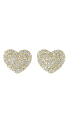 Miss Mimi Heart Silver Stud Earrings 13-021873-02 product image