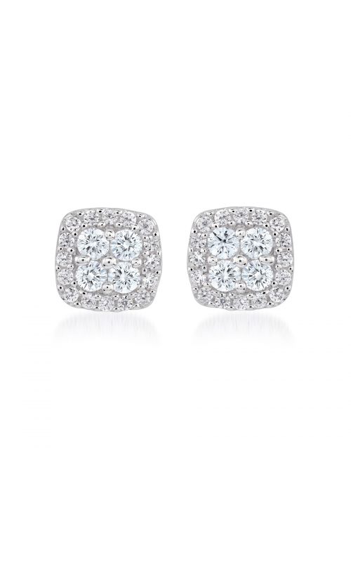 Miss Mimi Square Silver Stud Earrings 13-021878-01 product image