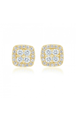 Miss Mimi Square Silver Stud Earrings 13-021878-02 product image