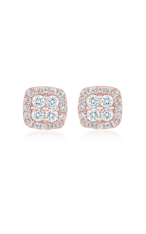 Miss Mimi Square Silver Stud Earrings 13-021878-03 product image