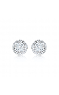 Miss Mimi Round Silver Stud Earrings 13-021879-01 product image