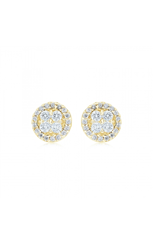Miss Mimi Round Silver Stud Earrings 13-021879-02 product image