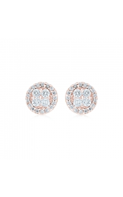 Miss Mimi Round Silver Stud Earrings 13-021879-03 product image