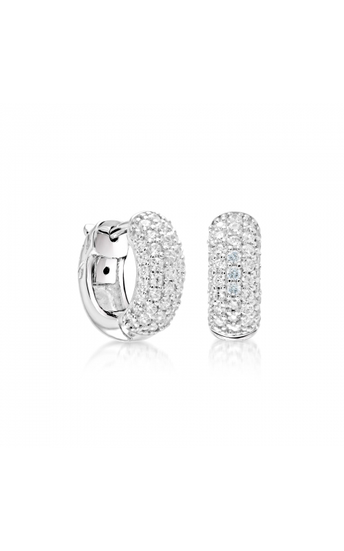 Miss Mimi Pave Small Silver Hoop Earrings 13-022182 product image