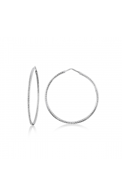 Miss Mimi Silver Diamond Cut Hoop Earrings 45mm 13-092447-01 product image