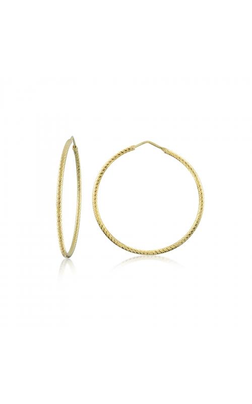 Miss Mimi Silver Diamond Cut Hoop Earrings 13-092447-02 product image
