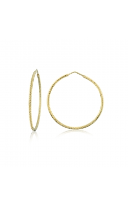 Miss Mimi Silver Diamond Cut Hoop Earrings 13-092447-02 product image