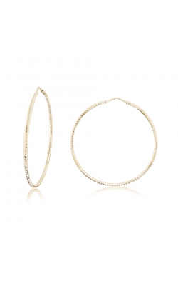 Miss Mimi Silver Diamond Cut Hoop Earrings 55mm 13-092448-02 product image