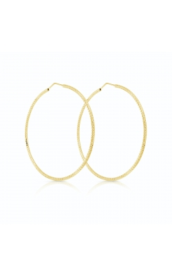 Miss Mimi Silver Diamond Cut Hoop Earrings 65mm 13-093244-02 product image
