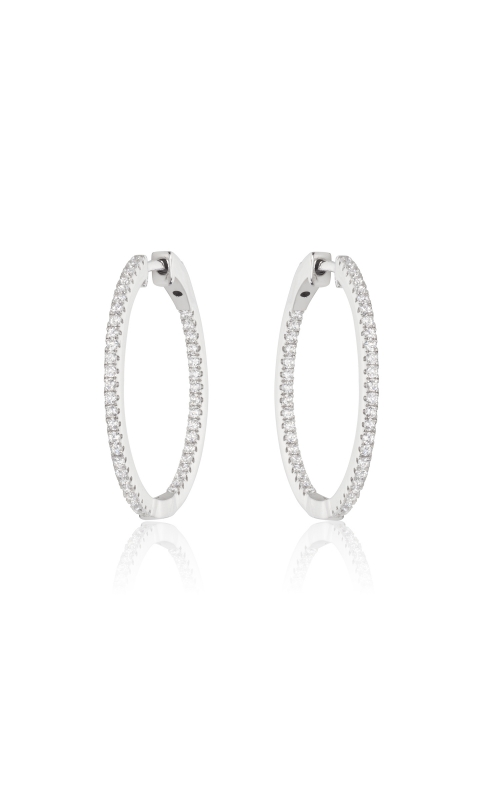 Miss Mimi CZ 35mm Silver Hoop Earrings 13-142496-11 product image
