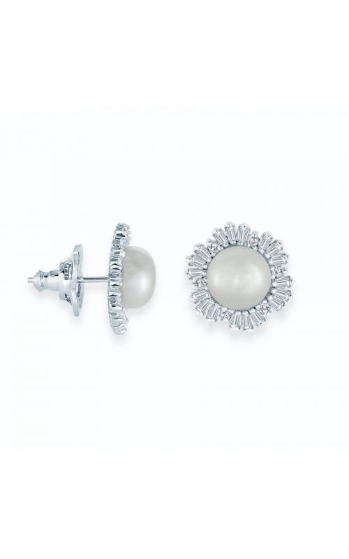 Miss Mimi Snowflake Fresh Water Pearl Stud Earrings 13-202942-01 product image