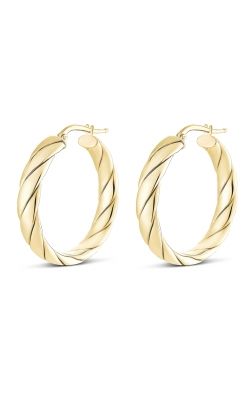 Miss Mimi Silver Lucia Wrap Quilt Hoop Earring 30mm 13-403562-02 product image