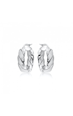 Miss Mimi Silver Lucia Wrap Quilt Hoop Earring 20mm 13-403563-01 product image