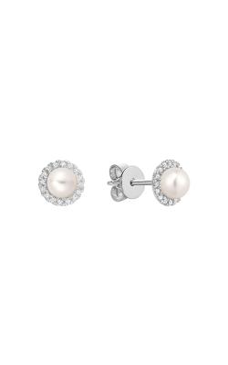 RNB Diamond & Pearl Stud Earrings 13-04PL10 product image