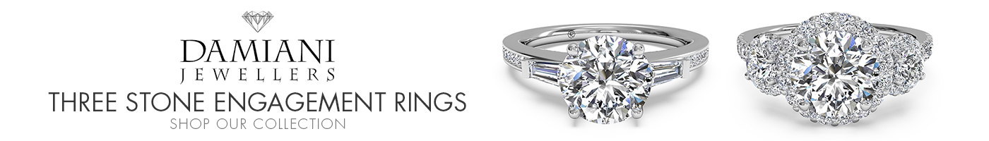 Three Stone Engagement Rings at Damiani Jewellers